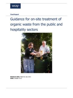 Final Report Guidance for on-site treatment of organic ...