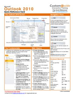 Outlook 2010 Basic Quick Reference - SharePoint …