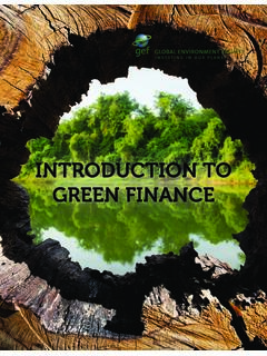 INTRODUCTION TO GREEN FINANCE