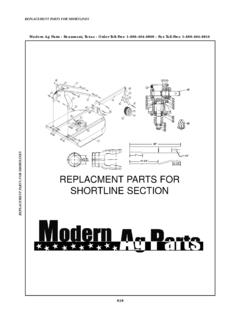 REPLACMENT PARTS FOR SHORTLINE SECTION