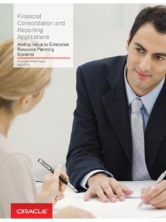 Financial Consolidation and Reporting Applications - Oracle