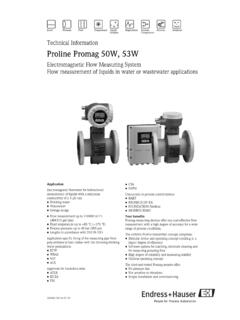 Technical Information Proline Promag 50W, 53W