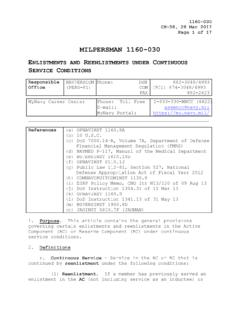 MILPERSMAN 1160-030 ENLISTMENTS AND REENLISTMENTS …