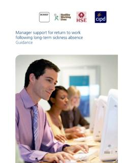 Manager support for return to work following long-term ...