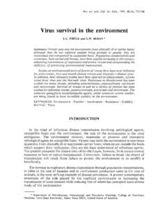 Virus survival in the environment - Home: OIE - …