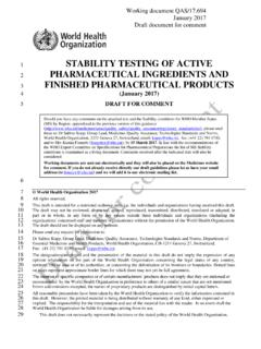 STABILITY TESTING OF ACTIVE PHARMACEUTICAL ... - …