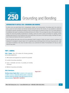 ARTICLE 250 Grounding and Bonding - Mike Holt Enterprises