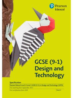 GCSE (9-1) Design and Technology - Pearson qualifications