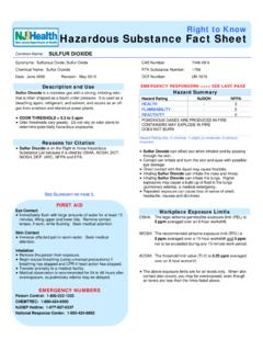 Right to Know Hazardous Substance Fact Sheet
