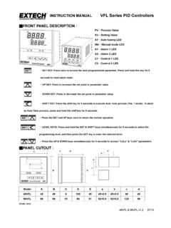 INSTRUCTION MANUAL VFL Series PID Controllers …