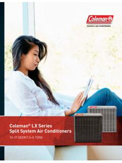York LX Series Split System Air Conditioners Consumer …