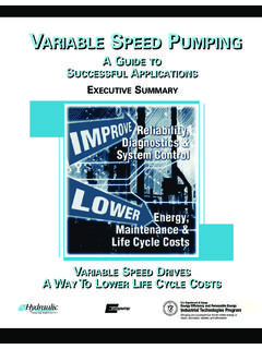 VARIABLE SPEED PUMPING - US Department of Energy