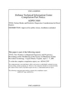 Defense Technical Information Center Compilation …