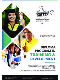 Was recognised by Govt. of India - istd.co.in