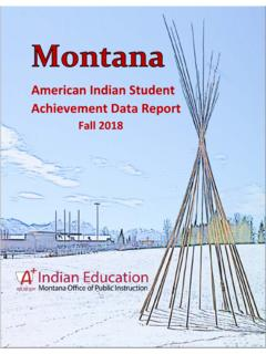 American Indian Student Achievement Data Report
