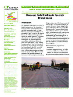 Causes of Early Cracking in Concrete Bridge Decks