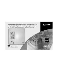 7 Day Programmable Thermostat HTM611A COVER - …