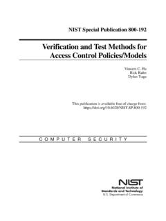 Verification and Test Methods for Access Control Policies ...