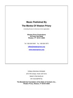 Music Published By The Monks Of Weston Priory Including Music Published By The Monks Of Weston Priory Including Pdf Pdf4pro