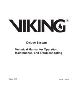 Deluge System Technical Manual for Operation, …