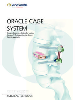 ORACLE CAGE SYSTEM - synthes.vo.llnwd.net