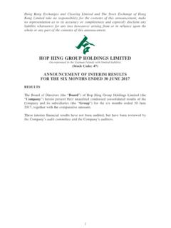 HOP HING GROUP HOLDINGS LIMITED