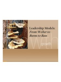 Leadership Models: From Weber to Burns to Bass