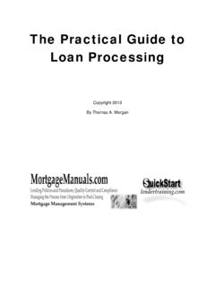 Practical Guide to Processing - Mortgage Training - Loan ...