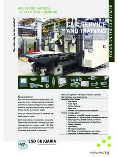 CNC SERVICE AND TRAINING - ESD