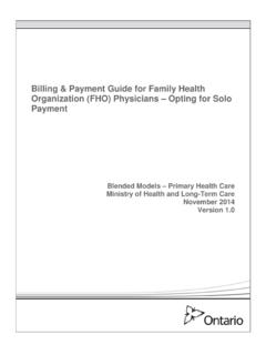 Billing and Payment Guide for Family Health Organization ...