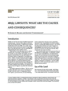 401(k) LAWSUITS: WHAT ARE THE CAUSES AND …