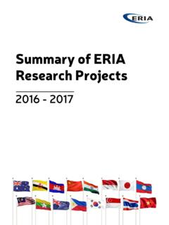 Summary of ERIA Research Projects and …