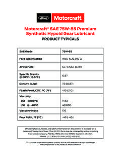 Motorcraft SAE 75W-85 Premium Synthetic Hypoid …