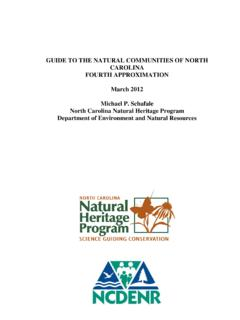 GUIDE TO THE NATURAL COMMUNITIES OF NORTH …