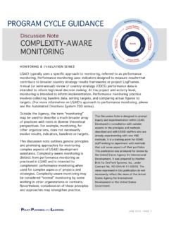 Discussion Note COMPLEXITY-AWARE MONITORING
