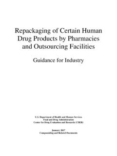 Repackaging of Certain Human Drug Products by …