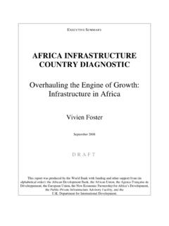 Overhauling the Engine of Growth: Infrastructure in Africa