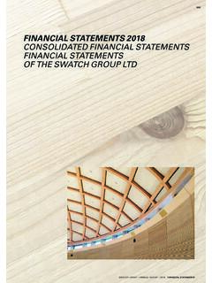 FINANCIAL STATEMENTS 2018 CONSOLIDATED FINANCIAL ...