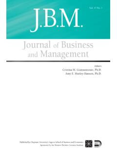 Journal of Business and Management - Chapman University