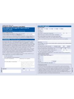 Application form for European Health Insurance Card (EHIC ...