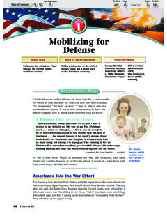 Mobilizing for Defense - Weebly
