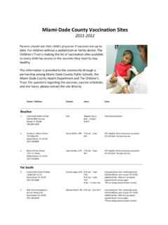 Miami Dade County Vaccination Sites