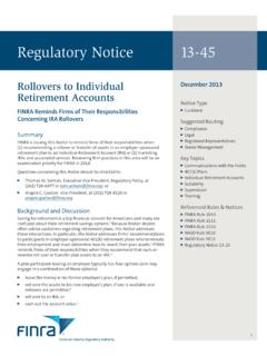 Regulatory Notice 13-45 - finra.org