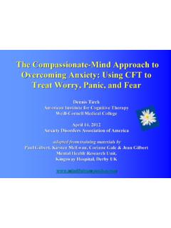 The Compassionate-Mind Approach to Overcoming Anxiety ...