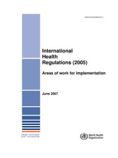 International Health Regulations (2005) - WHO