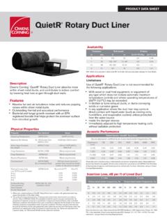 uietR Rotary Duct Liner - Owens Corning