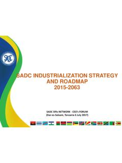 SADC INDUSTRIALIZATION STRATEGY AND ROADMAP …