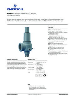 Safety Relief Valves, Series 900 - Kunkle Valve, Safety ...