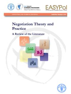Negotiation Theory and Practice - Home | Food and ...