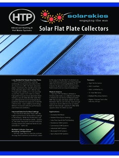 Solar Flat Plate Collectors - HTP - Water and Space …